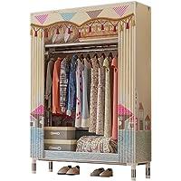 Portable Clothes Closet Canvas Wardrobe Storage Organiser Kids Rack Garment