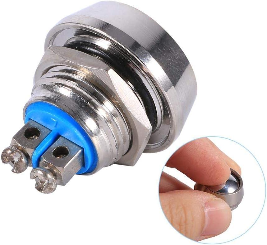 Interruptor de bot/ón moment/áneo de 12mm 2A 250V Interruptor de palanca de metal interruptor de palanca a prueba de agua