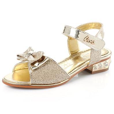 534be72d159e F1rst Rate Kids Girls Fashion Gladiator Summer Beach Princess Sandals -(Gold  32 1