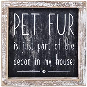Adams Manufacturing 'Pet Fur Part of The Decor' Rustic Wood Box Sign