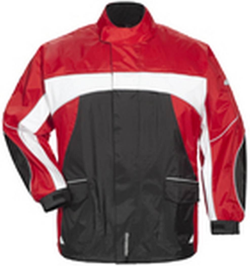 Tourmaster Elite 3 Rain Jacket (X-SMALL) (BLACK/RED/WHITE)