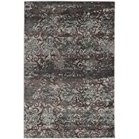 Linon Vintage Collection Trellis Synthetic Rugs, 2 x 3, Gray