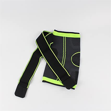 45f128fa4f 3XL Basketball Tennis Hiking Cycling Knee Brace Support 3D Weaving  Pressurized Straps Bandage Sports Knee Pads