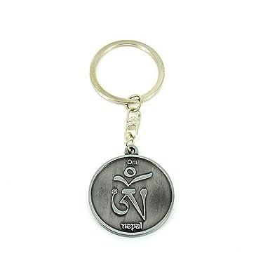 Amazon.com: Llavero con símbolo de OM, llavero tibetano en ...