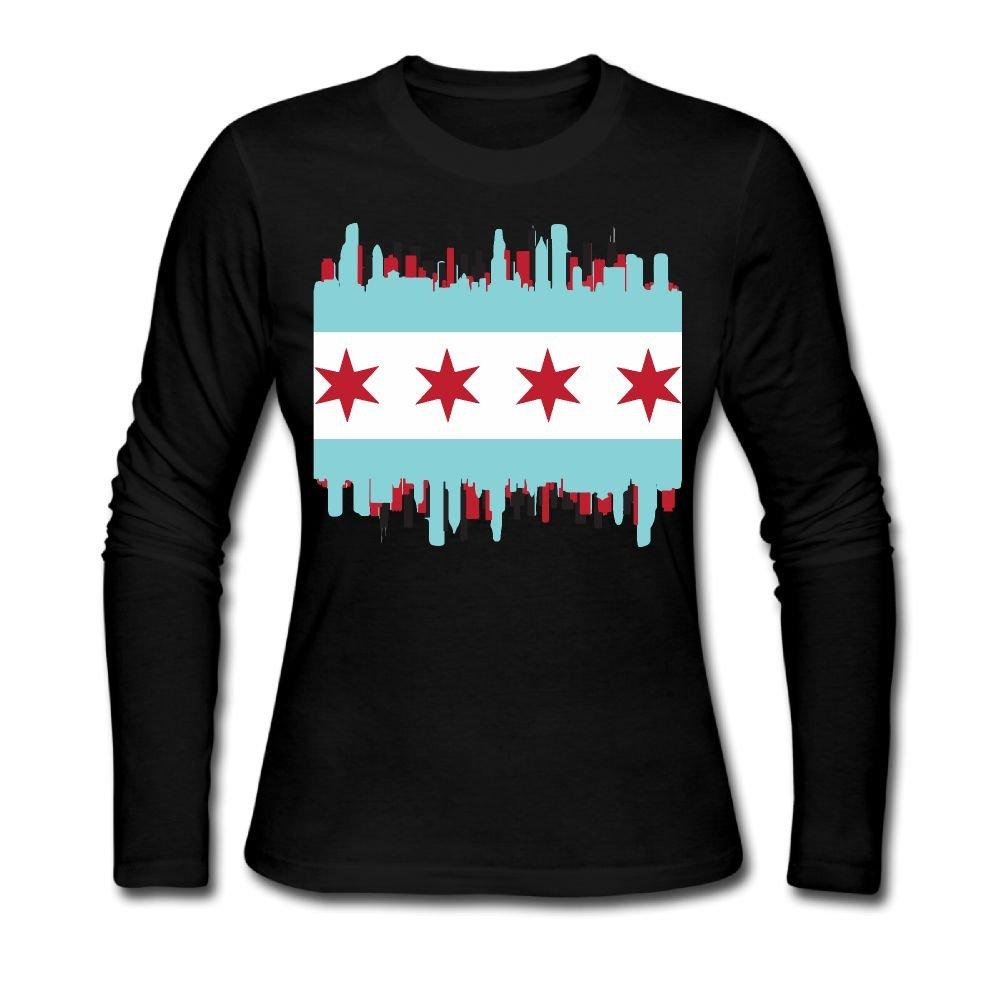 Amazon Chicago Flag With City Autumn Custom Stylish Womens