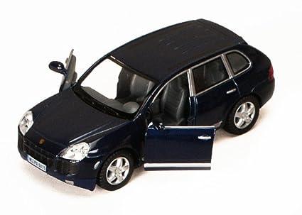 Amazon Com Porsche Cayenne Suv Blue Kinsmart 5075d 1 38 Scale