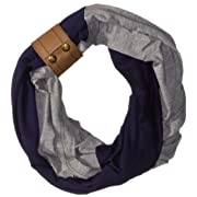 Itzy Ritzy Breastfeeding Cover and Infinity Nursing Scarf – Nursing Cover Can Be Worn as a Scarf and Provides Full Coverage While Nursing Baby; Includes Leather Cuff, Navy