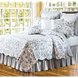 C & F Enterprises Williamsburg Brighton Blue Quilt - Full/Queen