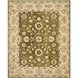 Cheap Safavieh Anatolia Collection AN562D Handmade Traditional Oriental Moss and Ivory Wool Area Rug (9′ x 12′)