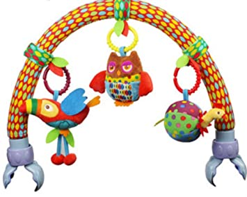 Animal Birds Toys Baby Travel Play Arch Activity Bar For Stroller Pram Crib Bed