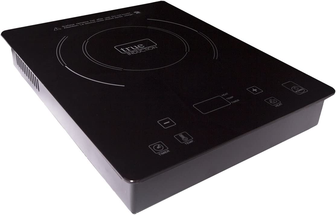 True Induction TI-1B Single Burner Counter Inset Energy Efficient Induction Cooktop, Black