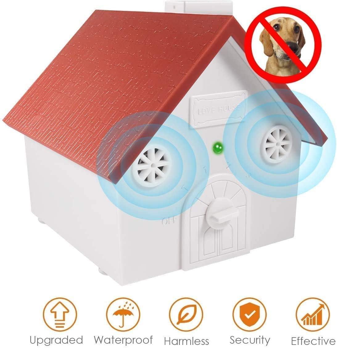 Upgraded Sonic Bark Deterrents Hidden Barking Deterrent Devices Pet Trainer Ultrasonic Anti Barking Adjustable Ultrasonic Level Dog Bark Control Enocoo Anti Barking Device