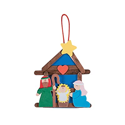 Nativity Craft Stick Ornament Craft Kit - Crafts for Kids and Fun Home Activities: Toys & Games