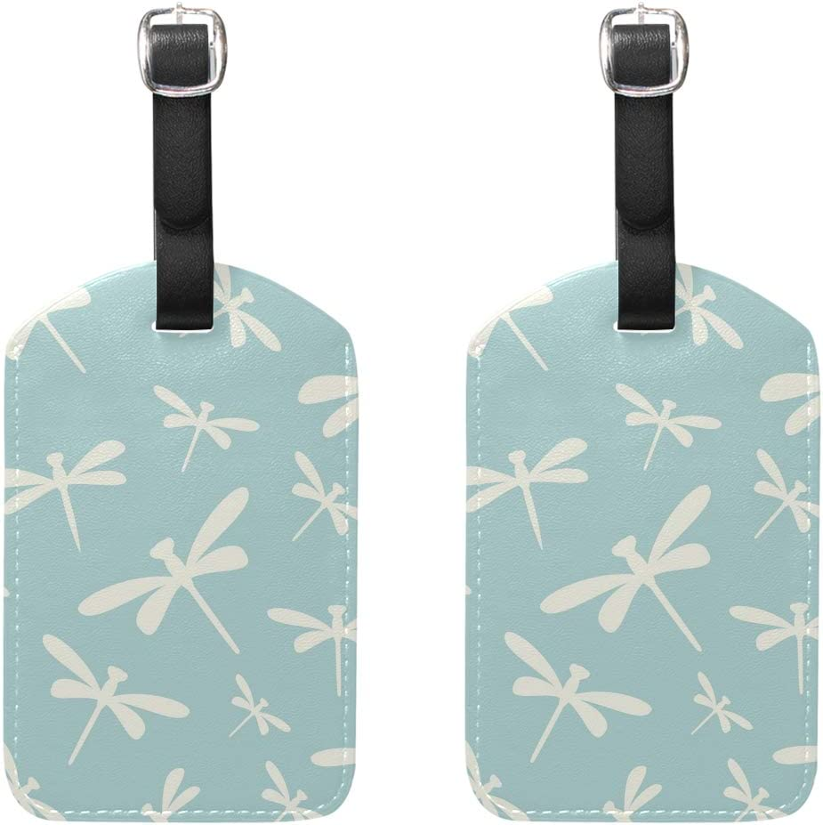 2 Pack Luggage Tags Dragonfly Pattern Cruise Luggage Tag For Travel Bag Suitcase Accessories