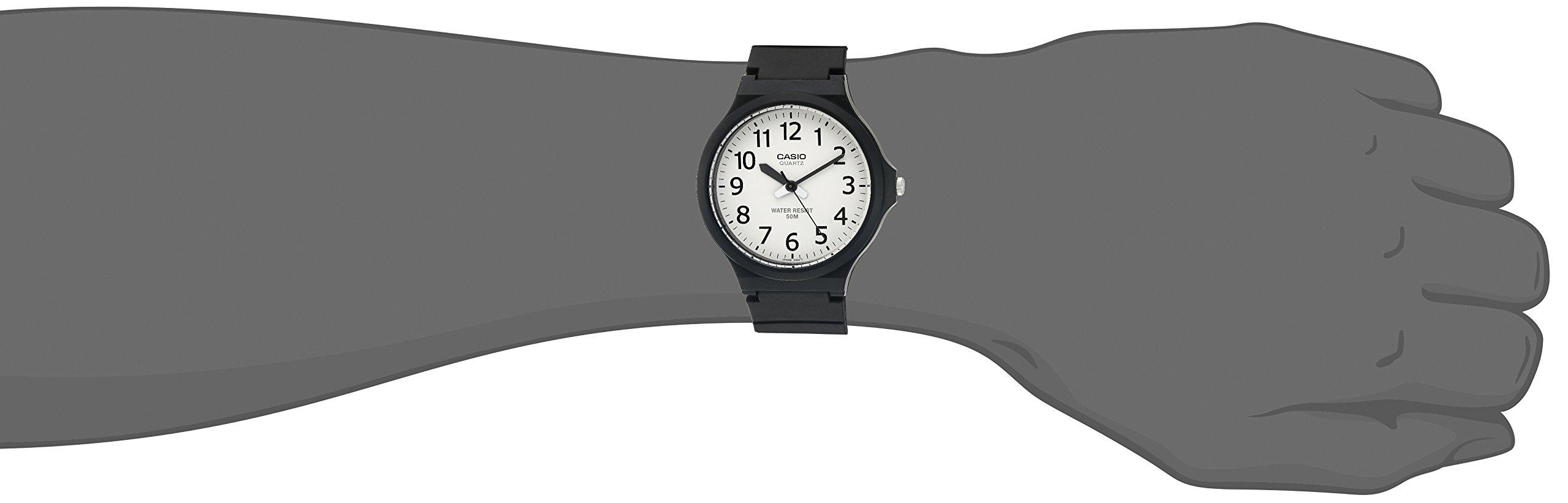 Casio Men's 'Easy To Read' Quartz Black Casual Watch (Model: MW240-7BV) by Casio (Image #2)