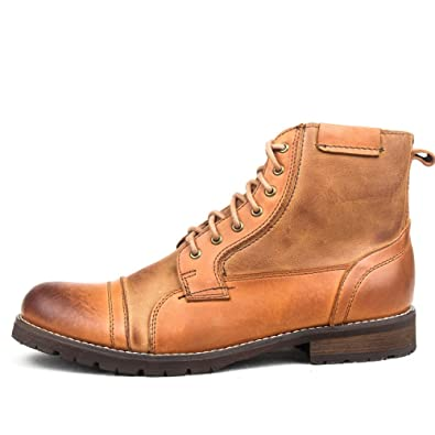 retro tooling boots men's boots/Leather fall/winter New England casual boots/Martin boots