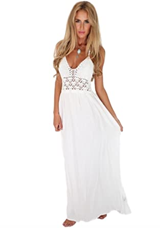 Crotched Casual Long Maxi Dress with Sleeves