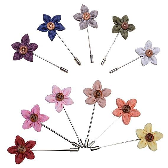 Soleebee YM003 Broches de Solapa, Mixto Aleatorio Flores de ...