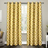 Exclusive Home Gates Sateen Blackout Thermal Window Curtain Panel Pair with Grommet Top 52×84 Sundress Yellow 2 Piece Review