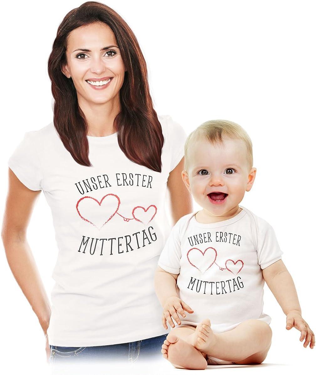 Shirtgeil Geschenk Alles Gute zum 1 Muttertag Mama Unisex Baby Langarmshirt