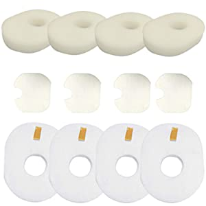 Amyehouse 4 Packs Replacement Foam & Felt Filter Set for Shark Rocket Ultra Light HV300 HV310 HV301 HV302 HV303 HV305 HV308 HV300W UV450 Vacuum,Part # XFFV300 & 1080FTV320