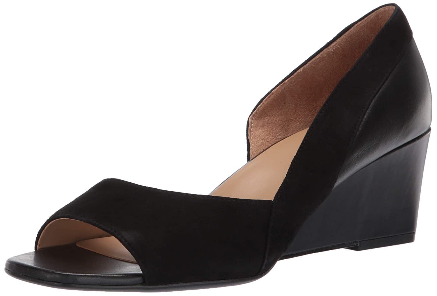 Black Leather Suede Naturalizer Women's Zula shoes