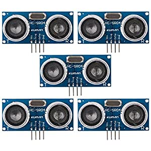 kuman k18d 5pcs HC-SR04 - Ultrasonic Distance measu Anillo sensor Module For Arduino UNO MEGA R3 Mega2560 Duemilanove Nano Robot XBee ZigBee
