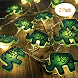 Animal Novelty Lights String Battery Operated with Timer Control 20 Micro LED Wire Lights Waterproof 2 Pack Elephant String Lights for Home Decoration,Kids Bedroom,Christmas,Holiday,(ELE2)