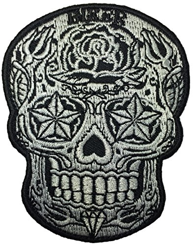 [Live Love Ride Sugar Candy Skull Head Star Eyes Novelty Biker Jacket Sew Iron on Embroidered Applique Emblem Badge Costume Patch By Ranger] (Custom Snake Eyes Costumes)