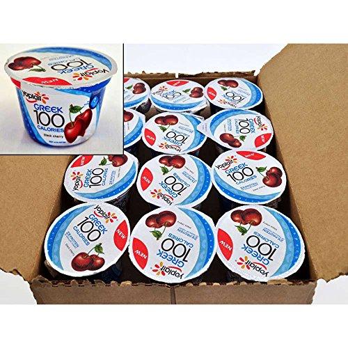 Yoplait 100 Calorie Black Cherry Greek Yogurt, 5.3 Ounce - 12 per case. by General Mills