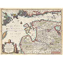 TRAVEL MAP LIVONIA COURLAND FINLAND ESTONIA LATVIA HISTORICAL ART POSTER CC4350