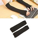 Kizaen Winter Long Fingerless Gloves Knitted Arm Warmer Thumb Hole Gloves for Women Girls 1 Pair