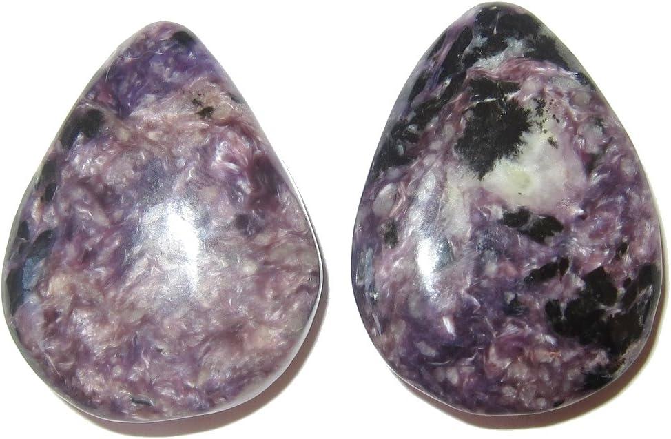Genuine Quality 54 Carat Natural Russian Charoite Gemstone Cabochon Jewelry Making 31x25x7 MM G28882 Wholesale Gemstone Purple Charoite
