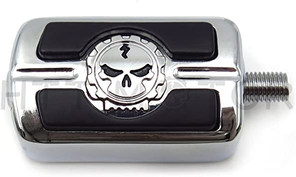 Harley willie g skull heel toe shift peg rest kit softail touring electra glide