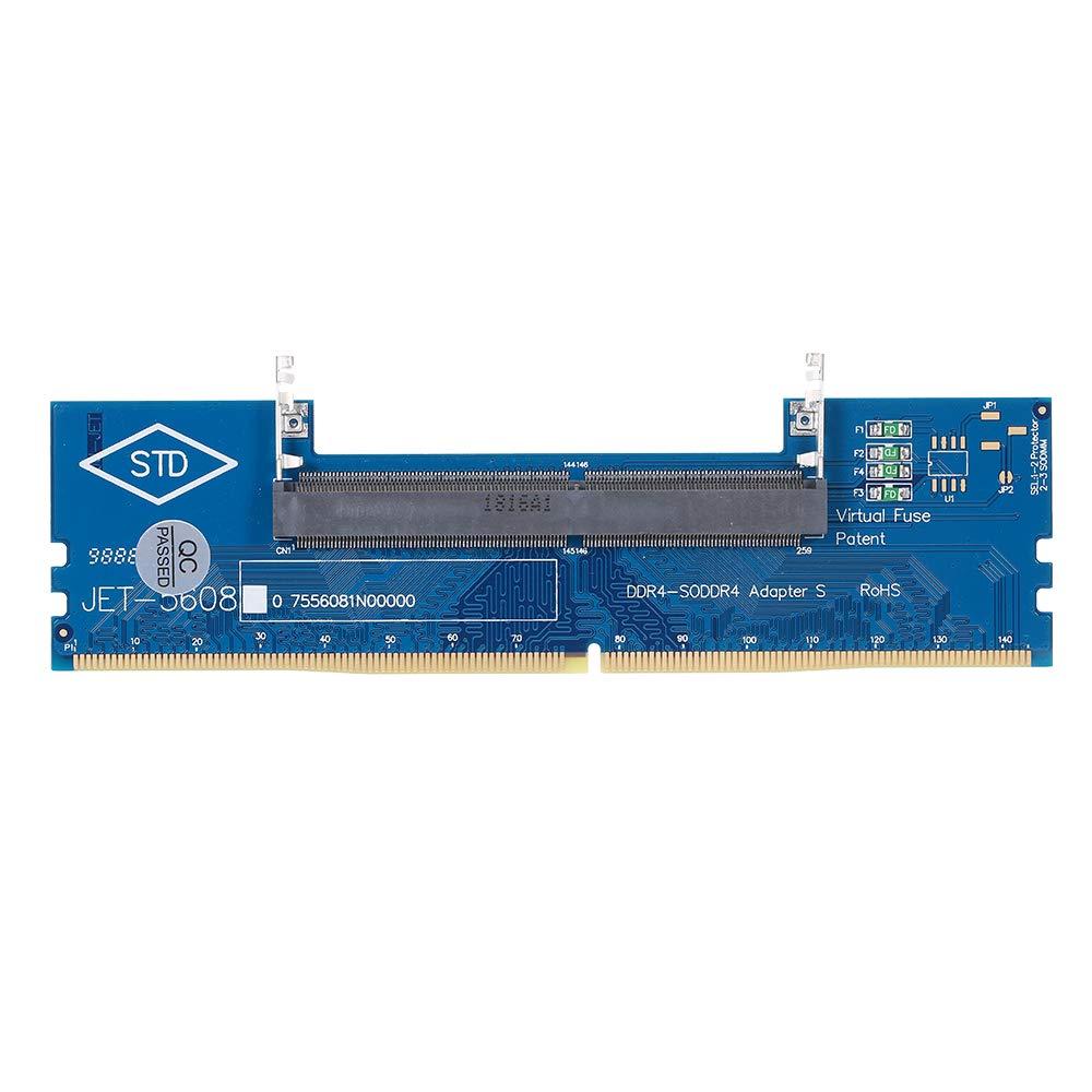Docooler DDR4 Laptop SO-DIMM a Adaptador de Escritorio Convertidor de Tarjeta Memoria RAM Conector Adaptador de Memoria de Prueba