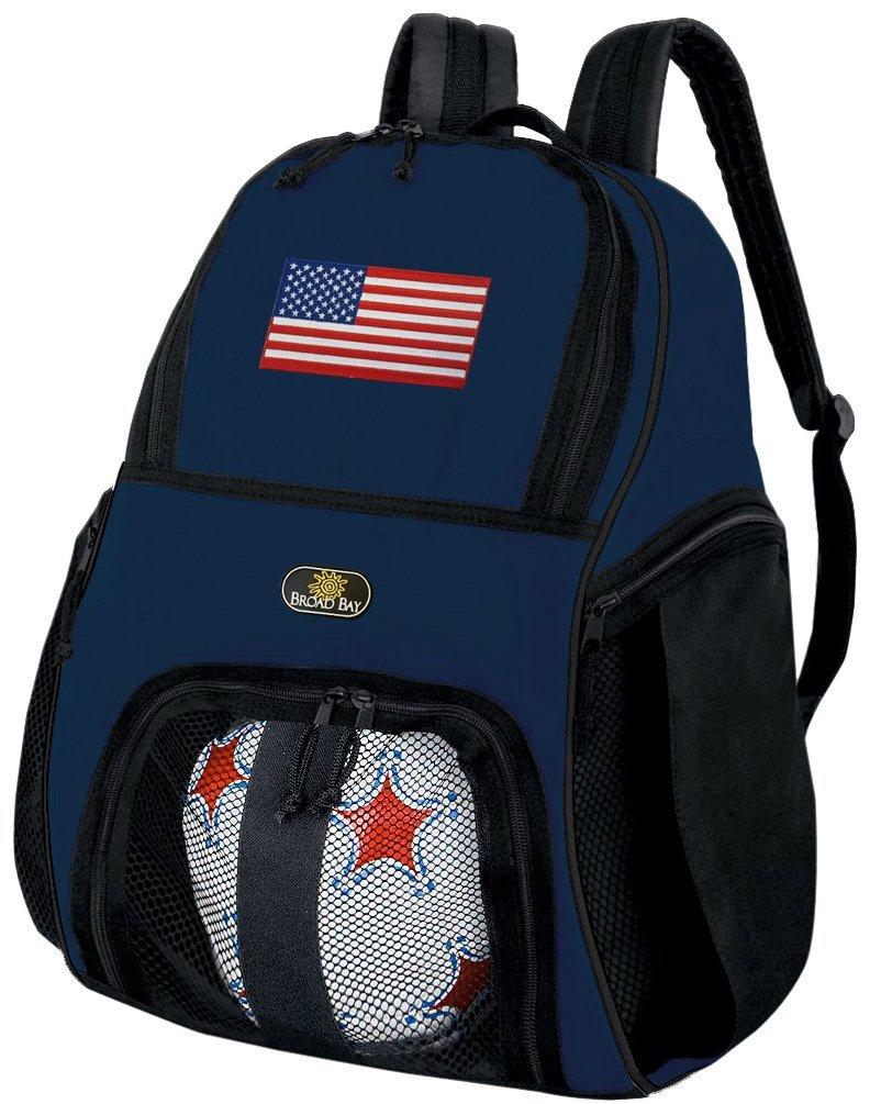 American FlagサッカーバックパックまたはUS Flagバレーボールボールバックパック B01FXW33GM