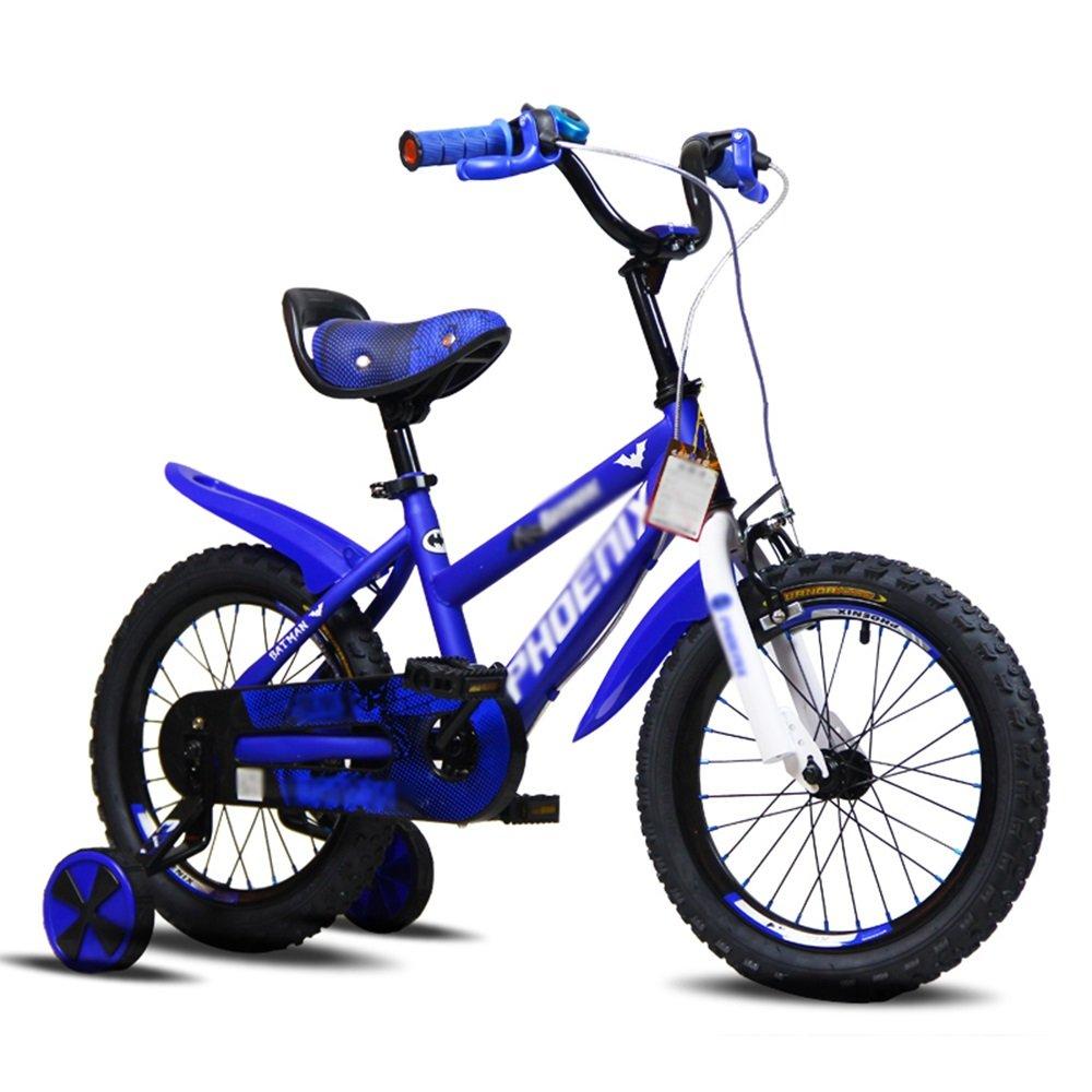 YANFEI 子ども用自転車 キッズバイク、サイズ12インチ、14インチ、16インチ、レッド、ブルー、ゴールド 子供用ギフト B07DZD2SNC 16 inch|青 青 16 inch