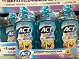 ACT Spongebob Kids mouthwash 3 pack (pack of 6)