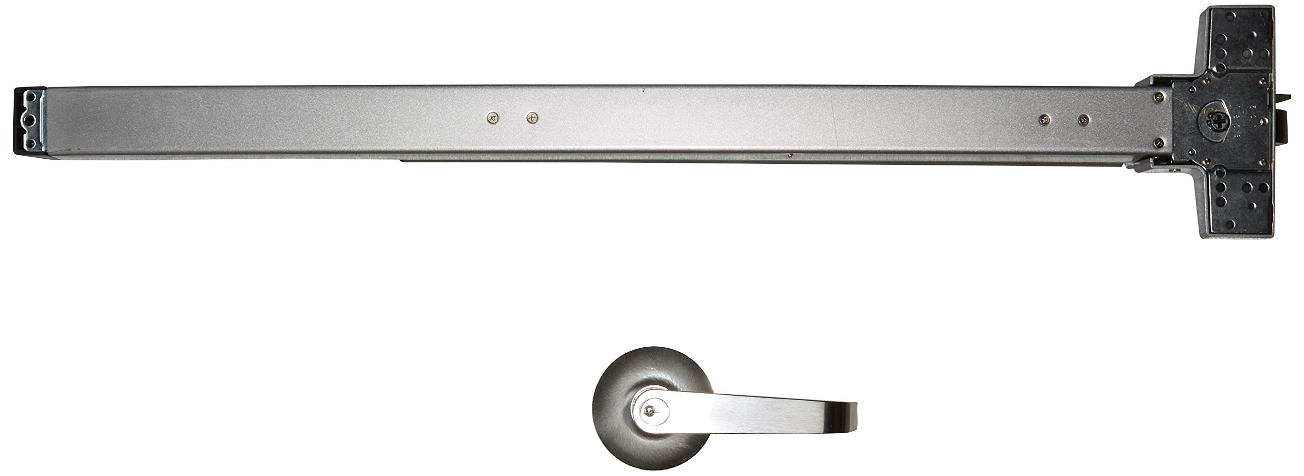 Push Bar Panic Exit Device, (UL listed) with Exterior Lever by Deals On Wings (Image #2)