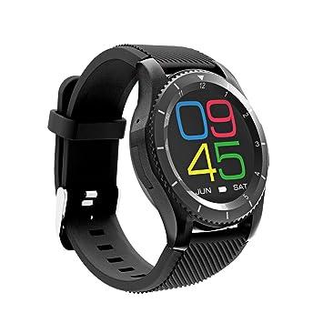 Powpro G8 Smart Watch Reloj Inteligente Bluetooth con cámara táctil Pantalla Tarjeta SIM para Android e iOS Soporte Fitness Tracker Pulsómetro Monitor GPS ...