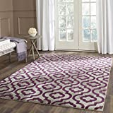 Safavieh Porcello Collection PRL7734B Light Grey and Purple Area Rug (4'1' x 6')