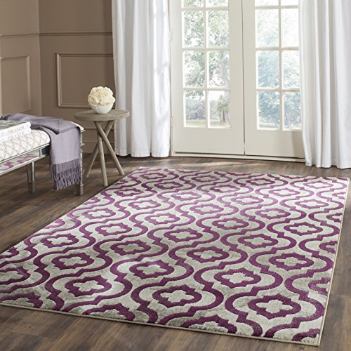 Safavieh Porcello Collection PRL7734B Light Grey and Purple Area Rug (8'2