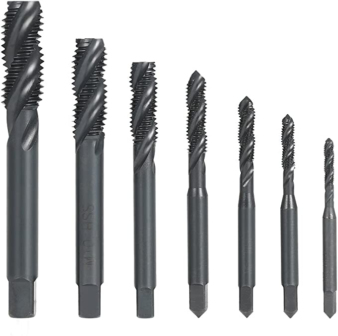 Metric M3-M13 Thread Tap Fine Thread Screw Taper HSS Plug Tap Thread Cutter