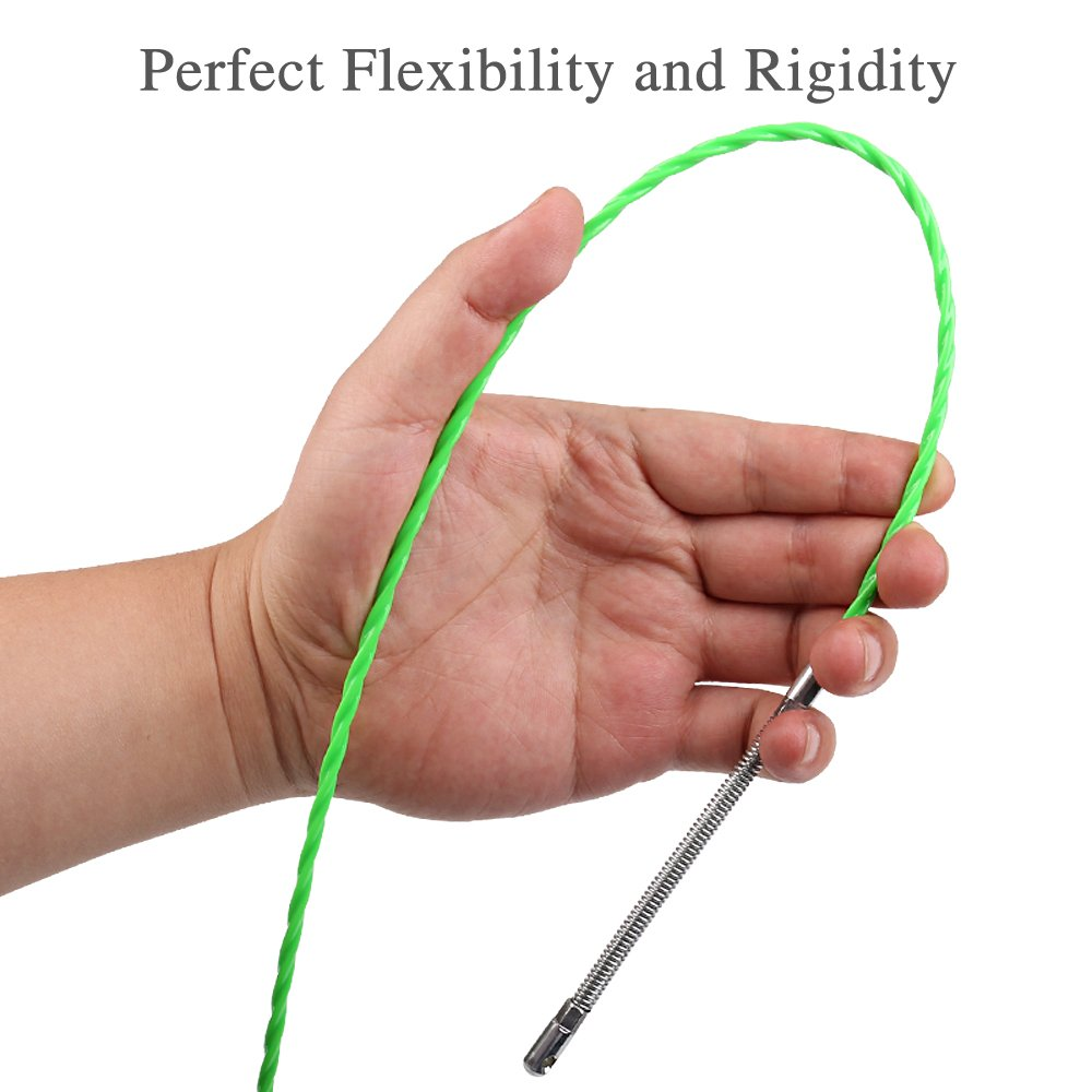 Fish Tape Electrical Wire Threader Wire Puller Through Wall Fish Threader plus Fish Cable Fastener with Steel rope 40FT(12M) by StartFine (Image #5)