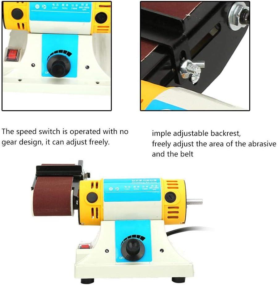 Bandschleifmaschine Elektrische Schleif Desktop Bandschleifmaschine Poliermaschine 750 Watt Eu-stecker 220 V Elektromotor Elektrische Bandschleifmaschine