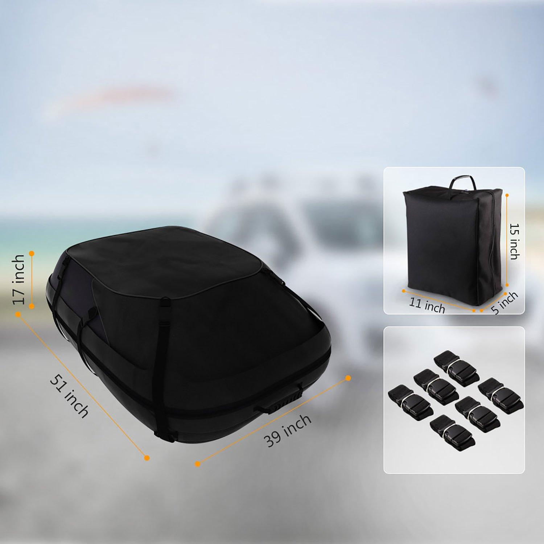 Dozenla Car Roof Top Cargo Bag Vehicles Waterproof Storage Carrier Luggage Travel Organizer [US Stock] by Dozenla (Image #6)