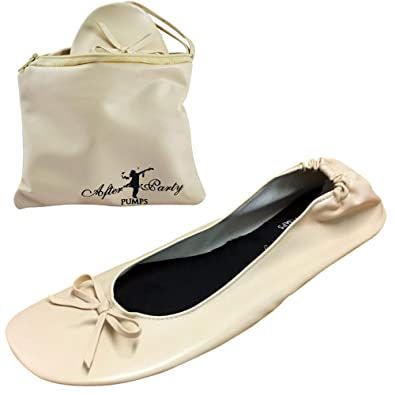 7485b66130f10 After Party Pumps Ladies Roll up Shoes Fold up Pumps with Carrier ...