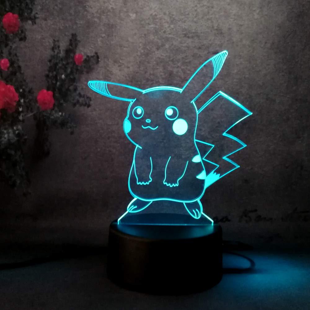 Change 3d Power Lamp Birthday Decor Kids Lights Gradient Usb Colors Acrylic Charging Night Plates Led Pikachu Children 7 Amroe Christmas 5v rxdBCeo