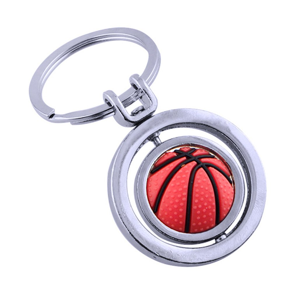 Finance Plan Clearance Sale Key Buttons Basketball Rotating Keychain Pendant Car Key Purse Hanging Decor