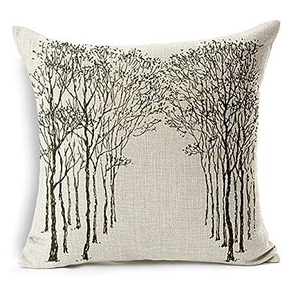 Amazon.com: XuLuo Branch Bird Butterfly Printed IKEA Cushion ...